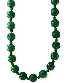 "EFFY® Jade (4 & 10mm) Bead 20"" Statement Necklace"