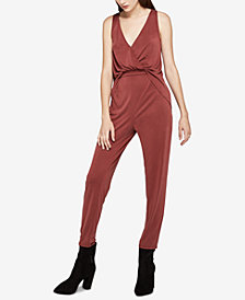 BCBGeneration Drape-Back Surplice Jumpsuit