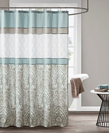 """510 Design Shawnee 72"""" x 72"""" Printed and Embroidered Shower Curtain"""