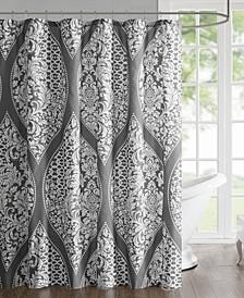 """Jaclin 72"""" x 72"""" Printed Shower Curtain"""
