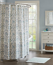 "Echo Design Kamala 72"" x 72"" Cotton Printed Shower Curtain"
