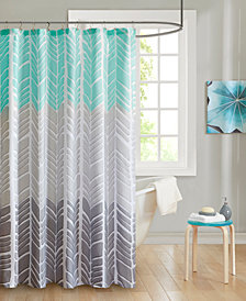 "Intelligent Design Adel 72"" x 72"" 100% Microfiber Printed Shower Curtain"