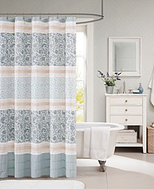 "Dawn 72"" x 72"" Cotton Shower Curtain"