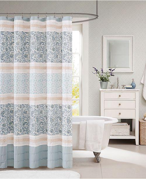 "Madison Park Dawn 72"" x 72"" Cotton Shower Curtain"