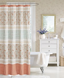 "Madison Park Dawn 72"" x 72"" Cotton Shower Curtain"