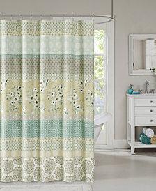 "Madison Park Willa 72"" x 72"" Cotton Shower Curtain"