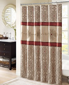 "Madison Park Donovan 72"" x 72"" Embroidered Shower Curtain"
