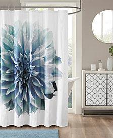 """Madison Park Norah 72"""" x 72"""" 200TC Cotton Percale Shower Curtain"""