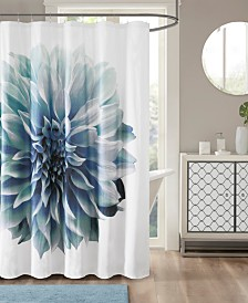"Madison Park Norah 72"" x 72"" 200TC Cotton Percale Shower Curtain"