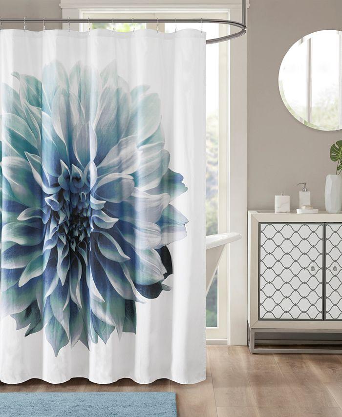 """Madison Park - Norah 72"""" x 72"""" 200TC Cotton Percale Shower Curtain"""