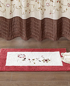 "Madison Park Serene 21"" x 34"" Embroidered Cotton Tufted Rug"