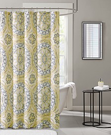 "Madison Park Essentials Serenity 72"" x 72"" Printed Shower Curtain"