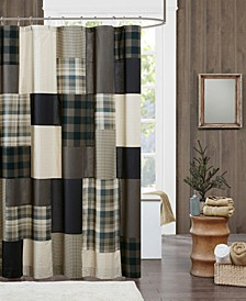 "Woolrich Winter Hills 72"" x 72"" 100% Cotton Shower Curtain"