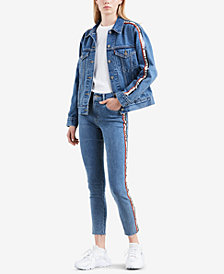 Levi's® Limited Cotton Logo-Tape Denim Jacket, Created for Macy's