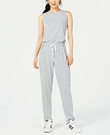 Material Girl Juniors' Sleeveless Drawstring Jumpsuit, Created for Macy's