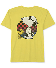Peanuts Big Boys Snoopy-Print Cotton T-Shirt