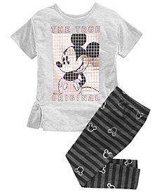 Disney Little Girls 2-Pc. Mickey Mouse Top & Leggings Set