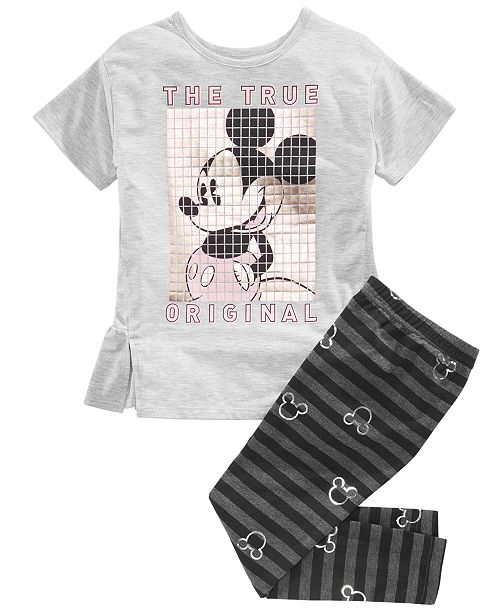 2aa23a320d21f Disney Little Girls 2-Pc. Mickey Mouse Top & Leggings Set & Reviews ...