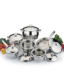 BergHoff Cosmo Stainless Steel 12pc Cookware Set