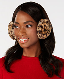 I.N.C. Animal-Print Faux-Fur Earmuffs, Created for Macy's