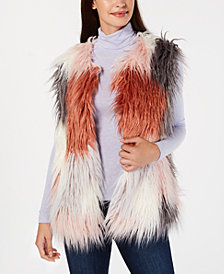 I.N.C. Make Me Blush Faux-Fur Vest, Created for Macy's