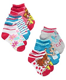 Disney Little & Big Girls 6-Pk. Fancy Nancy No-Show Socks