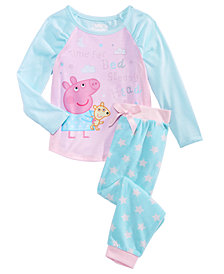 Peppa Pig Toddler Girls 2-Pc. Sleepy Head Cotton Pajama Set