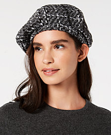 I.N.C. Cut-And-Sewn Tweed Beret, Created for Macy's