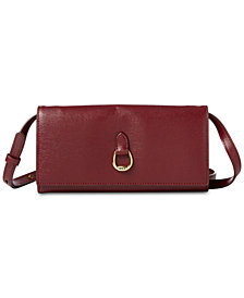 Lauren Ralph Lauren Bennington Crossbody Leather Wallet