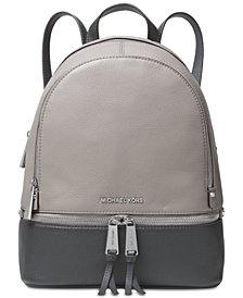 MICHAEL Michael Kors Rhea Colorblock Pebble Leather Backpack