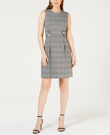 Anne Klein Houndstooth-Print Dress