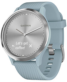 Garmin Unisex vívomove HR Sport Seafoam Silicone Strap Hybrid Touchscreen Smart Watch 43mm