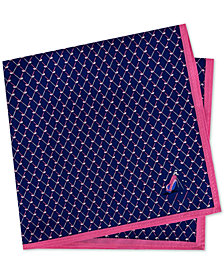 Tommy Hilfiger Men's Conversational Golf Club Silk Pocket Square