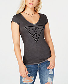 GUESS Oil Wash Logo T-Shirt