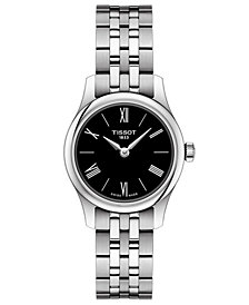 Tissot Women's Swiss T-Classic Tradition 5.5 Gray Stainless Steel Bracelet Watch 25mm