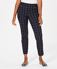 Charter Club Plaid Skinny Ankle Pants, Created for Macy's