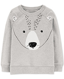 Carter's Baby Boys Bear Face Graphic Sweater