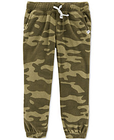 Carter's Baby Boys Pull-On Printed Fleece Jogger Pants
