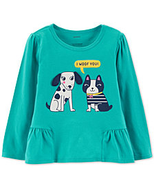 Carter's Baby Girls Dog-Print Cotton T-Shirt