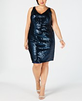e57e167d118f3 Nightway Plus Size Sleeveless Sequin Dress