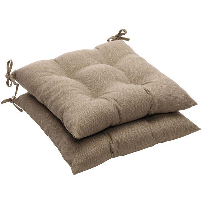 Pillow Perfect Monti Chino Wrought Iron Seat Cushion, Set of 2