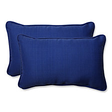 Fresco Navy Rectangular Throw Pillow, Set of 2