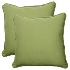 """Forsyth Kiwi 18.5"""" Throw Pillow, Set of 2"""