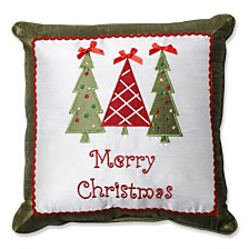 "Merry Christmas Trees 16.5"" Throw Pillow"
