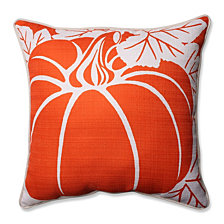 "Pumpkin Beige 16.5"" Corded Throw Pillow"