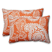 Addie Terra Cotta Over-sized Rectangular Throw Pillow, Set of 2
