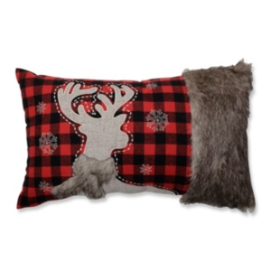 Fur Reindeer Oblong Red/Black...