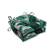 Swaying Palms Capri Reversible Chair Pad, Set of 2