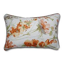 Pretty Perennials Nude Rectangular Throw Pillow