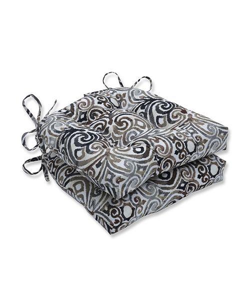 Pillow Perfect Corinthian Driftwood Reversible Chair Pad, Set of 2
